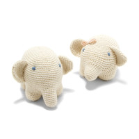 Organic Cotton Hand-knitted Elephant Toy