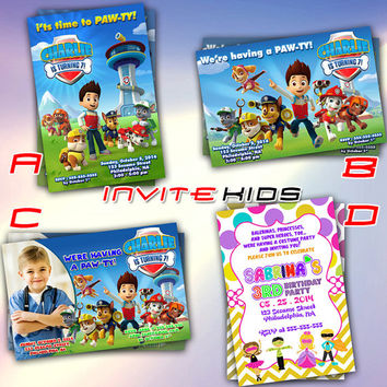 Paw-ty With Costume Party Patrol - Invitation Card - Birthday Party Kids - InviteKids