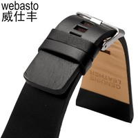 Webasto Men Watch Band For Diesel Cow Leather Straps Width 26 28 30 32 34mm Buckle Watch Strap Watchbands Free Shipping