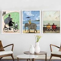 Nordic Abstract Love Canvas Painting Scandinavian Wall Pictures Art Oil Posters and Prints for Living Room Home Decor No Frame