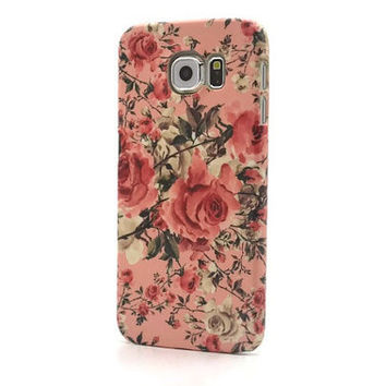 Floral iphone 6 case rose  iphone 6 plus case flower iphone 5S case pink galaxy s6 edge floral iphone 4S  galaxy S5 LG G3 G4 Sony Xperia Z3
