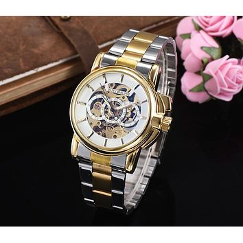 8DESS Patek Philippe Woman Men Fashion Leather Automatic Mechanical Wristwatch Watch 40mm