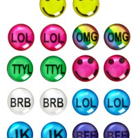 Text Icon Earrings   Girls Jewelry Accessories   Shop Justice