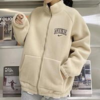 NIKE Woman Men Fashion Cashmere Cardigan Jacket Coat