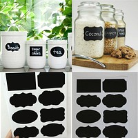 40 PCS Mason Sugar Bowl Stickers Black Board Kitchen Jam Jar Label Labels Stickers Decor Chalkboard Dropshipping