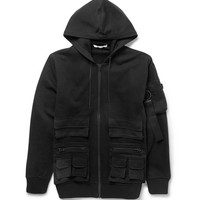 Givenchy - Cargo Fleece-Backed Cotton-Jersey Hoodie | MR PORTER
