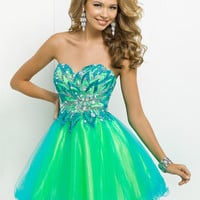 Short Sweetheart Neckline Tulle Skirt Prom Dress By Blush 9721