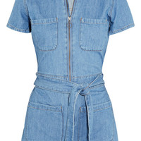 Madewell - Cotton and linen-blend playsuit