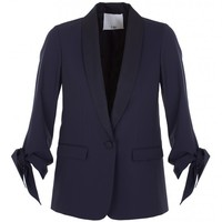 Tibi Tropical Wool Tuxedo Jacket
