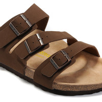 2017 New STYLE Birkenstock Summer Fashion Leather Cork Flats Beach Lovers Slippers Casual Sandals For Women Men Couples Slippers size 36-45 mac 599