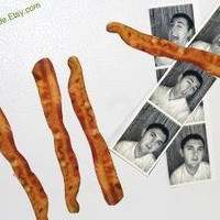 4 Bacon Slices Magnets by DesignDude on Etsy