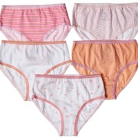 5-Pack Pretty Bows Tagless Panties 100% Cotton Fashion Prints