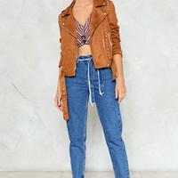 Studded Tan Biker Jacket