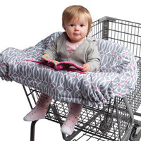 Boppy Shopping Cart Cover - Park Gate Pink & Gray