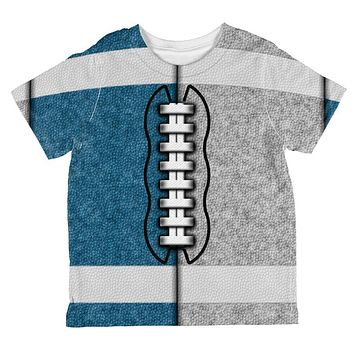 Fantasy Football Team Blue and Grey All Over Toddler T Shirt