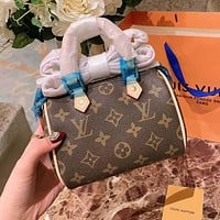 Louis Vuitton LV NANO Speedy Mini Handbag Bag