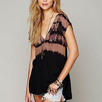 Free People  Clothing Boutique > Tie Dye Extreme Hi Low Tunic