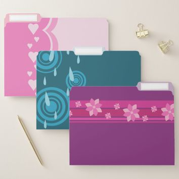 Pretty Patterns File Folder