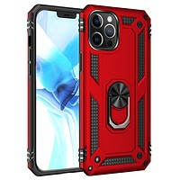 Tech Armor Ring Stand Grip Case with Metal Plate for iPhone 12 /