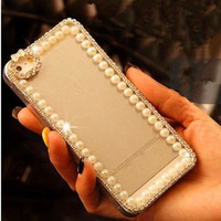 Cute Luxury Bling Crystal Diamond Hard Case Cover for iPhone/ Samsung Galaxy
