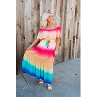 Tiered Ombre Maxi (Rainbow)