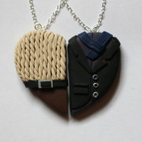 Sherlock and John Inspired Friendship Necklaces