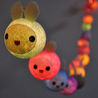 20 Bulbs Cutie Rabbit Kids Party Cotton ball string lights for Patio,Wedding, Chrismas Lights, Party Lights, Kids Party and Decoration