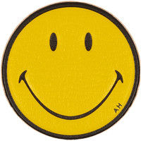 Anya Hindmarch - Smiley Face textured-leather adhesive sticker