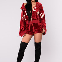 Dream On Velour Jacket - Amber