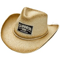 Guinness - Patch Logo Straw Cowboy Hat