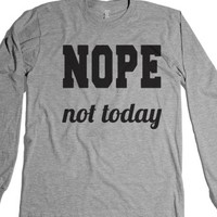 Nope Not Today-Unisex Heather Grey T-Shirt