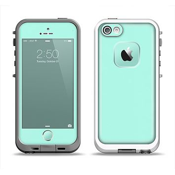 The Subtle Solid Green Apple iPhone 5-5s LifeProof Fre Case Skin Set