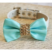 Blue dog bow tie Beach wedding, Country wedding, Dog Lovers, Dog birthday gift , Wedding dog collar