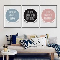 Modern Nordic Motivational Quote  Canvas Art Print Poster Big Typography Wall Picture Living Room Home Decor Painting No Frame