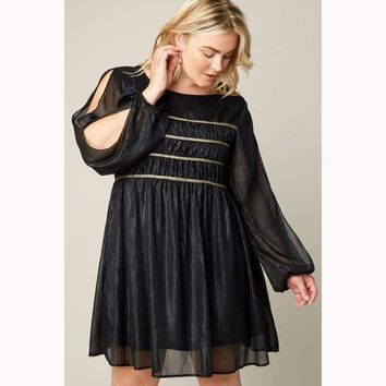 Love is in the Air Ruched Babydoll Dress