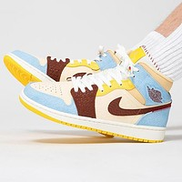 Air Jordan 1 MID AJ1 Hot Sale Men Women Casual Sport Basketball Shoes Sneakers