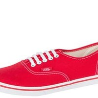 Vans Womens Authentic Lo Pro True Red True White - Free Shipping. Easy Returns
