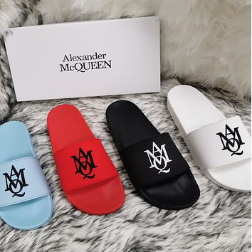 Alexander McQueen 2020 classic pattern flat shoes and slippers