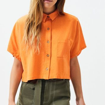 Kendall and Kylie Linen Button Down Top | PacSun