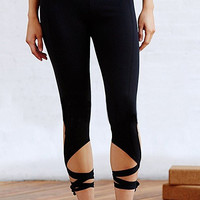 Black Turnout Leggings with Self-tie
