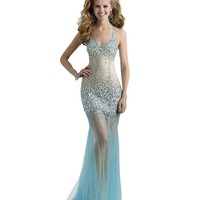Long Sheer Mermaid Couture Prom and Pageant Dress 4304