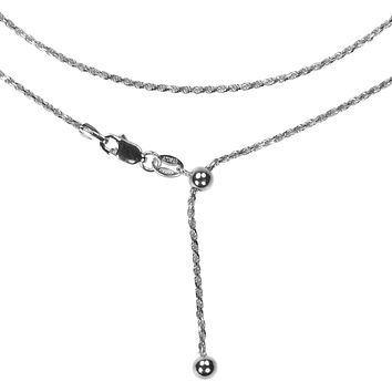 Sparkle Twist Necklace Adjustable Length Italian Chain| 925 Sterling Silver as a choker or as a necklace all up to you!