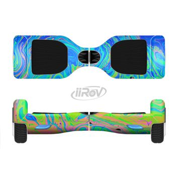 The Neon Color Swirls Full Body Skin Set for the Smart Drifting SuperCharged Transportation iiRov