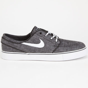 Nike Sb Zoom Stefan Janoski Canvas Mens Shoes Charcoal  In Sizes