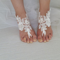 ivory, black. lace wedding sandals, free shipping!