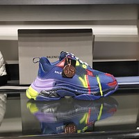 Balenciaga Men's And Women's Leather Triple S Air Cushion Sneakers Shoes