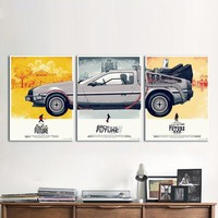 Canvas Art Movie Poster 3 Pieces Back to the Future Phantom City Painting Home Decor Wall Pictures For Living Room