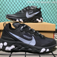 hcxx Nike Upcoming React Element 87 Undercover X Fashion Running ShoesBlack