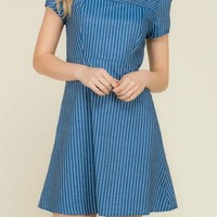 Be The Best Denim Stripe Dress