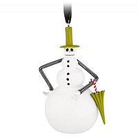 Disney Parks Nightmare Before Christmas Snowman Jack Skellington Ornament New